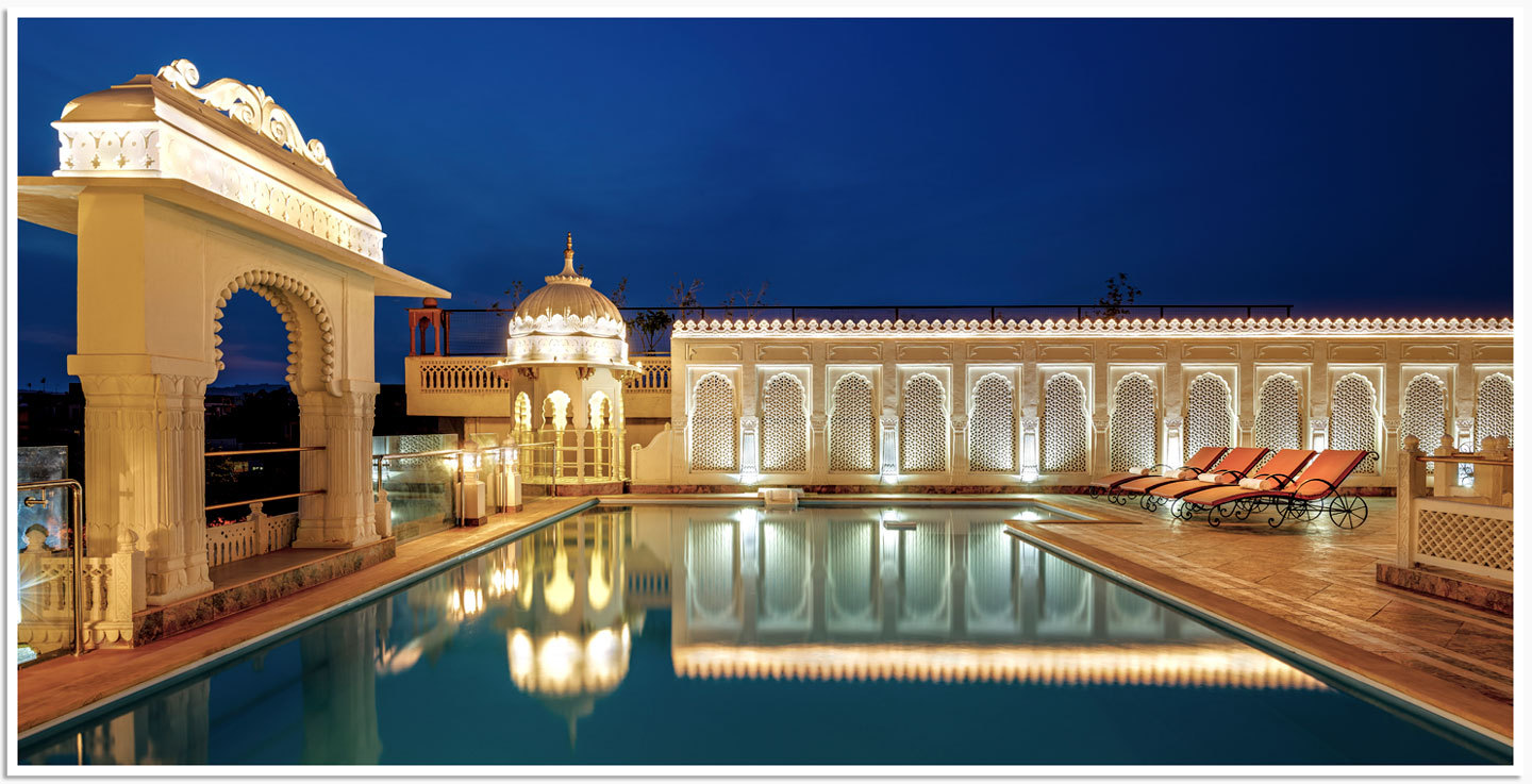 Rooftop Swimming Pool, The Rajasthan Palace, Jaipur